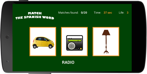 <b>Match the Spanish Word</b>