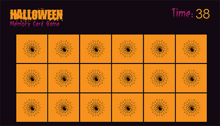 <b>Halloween Memory Card Game</b>